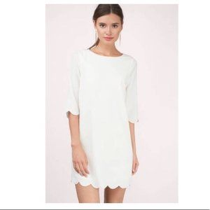 Tobi Cream Scalloped Dress